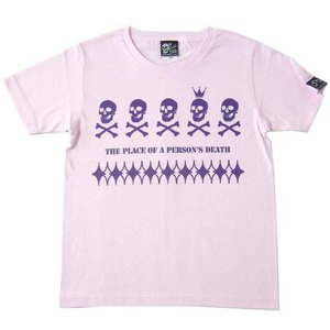 スカルTシャツ / EDST-ゴースト5 Tシャツ(ライトピンク)-G- 半袖 ドクロ パンクロックTシャツ かっこいい アメカジ カジュアル|bambi|03