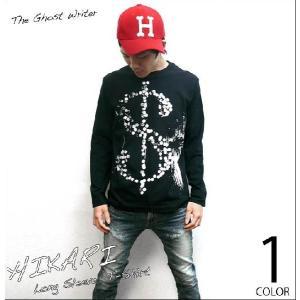 HIKARI ロングスリーブTシャツ -G- ロンTee 長袖 パンクロック PUNKROCKER ブラック 黒色系 メンズ レディース bambi