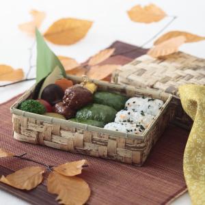 竹の皮のお弁当箱 竹皮容器 TY-6H (サイズ 本体180×120×50mm/フタ190×130×50mm)