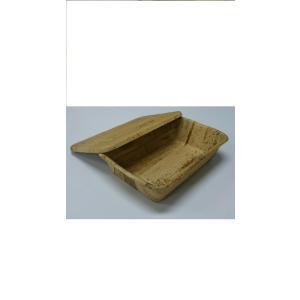 竹皮 弁当箱 使い捨て 竹皮プレス 容器 TPY-6H  (サイズ 本体198x138x50mm/フタ200x140x10mm)