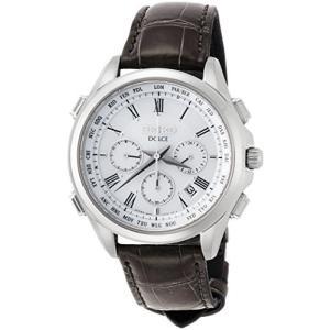[セイコーウォッチ] 腕時計 ドルチェ ソーラー電波クロノグラフ ワールドタイム機能 SADA039 メンズ ブラック banana-store2