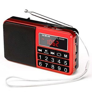 Gemean L-238SW ポータブル USB ラジオ 充電式 携帯 対応 ワイド FM AM (MW) 短波 by Gemean (バラ色) banana-store2