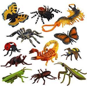 TOYMANY 動物フィギュア 12PCS昆虫フィギュアセット リアルなフィギュア 昆虫 おもちゃ ABSプラスチック 子供向け|banana-store2