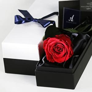 Makefuture Diamond Rose プリザーブドフラワー 花 誕生日 一輪 バラ プロポーズ ダイヤモンドローズ アモローサ (ブラ|banana-store2