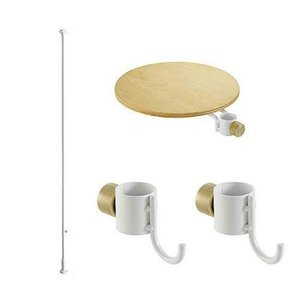 DRAW A LINE テーブル フック2セット ホワイト|banana-store2