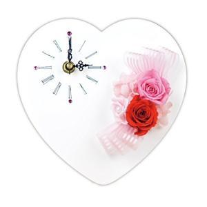 Lulu's プリザーブドフラワー ハート時計 サイズ幅18cm長さ6cm高さ18cm ピンク Lulu's-0023|banana-store2