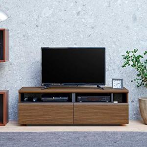 白井産業 大型 テレビ 台 32 から 50インチ対応 ラモリア RAM-4012H BR ダークブラウン 幅120cm|banana-store2