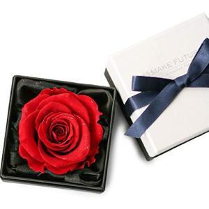 Makefuture Diamond Rose 9 プリザーブドフラワー 花 プロポーズ 薔薇 赤 一輪 フラワーボックス ブライトレッド|banana-store2