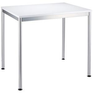 ナカバヤシ テーブル オフィスデスク 80x60cm ホワイト HEM-8060W|banana-store2