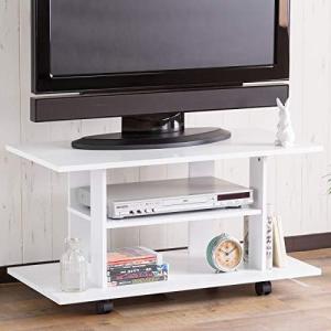 システムK テレビ台 テレビボード 32型対応 幅80cm キャスター付き ホワイト banana-store2