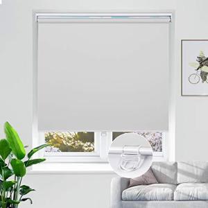 ロールスクリーン 1級遮光 遮光 断熱 防水 UVカット ブラインドカーテン プルコード式 目隠し6色 オーダーメイ|banana-store2