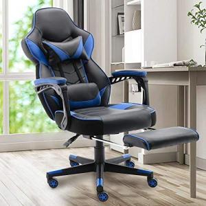 ゲーミングチェア 日本人向けサイズ 連動肘付き 人間工学デザイン 座り心地がよい 通気性抜群PUレザー 耐荷重1 banana-store2