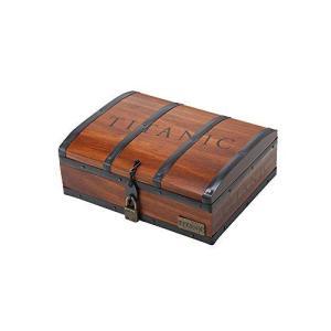 タイタニック グッズ ネックレス 「碧洋のハート」 木製宝物箱セット ブルークリスタルペンダント シルバー990|banana-store2