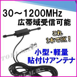 隠せる 30-1200MHzの広帯域受信♪小型・軽量・貼付けアンテナ B 新品 即納|bananabeach1991