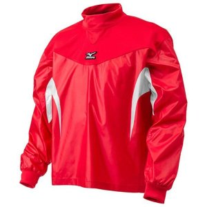 【1点までメール便可】 ミズノ 【12JE4J3162】 ジュニアトレーニングジャケット長袖 レッド×ホワイト|bandaisports