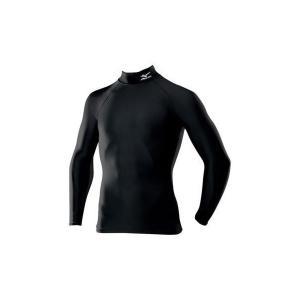 【1点までメール便可】 ミズノ 【A60BS35009】 バイオギア シャツ ハイネック 長袖 ブラック 黒|bandaisports
