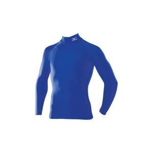 【1点までメール便可】 ミズノ 【A60BS35024】 バイオギア シャツ ハイネック 長袖 ブルー 青|bandaisports