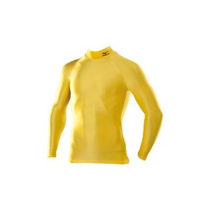【1点までメール便可】 ミズノ 【A60BS35046】 バイオギア シャツ ハイネック 長袖 イエロー 黄色|bandaisports