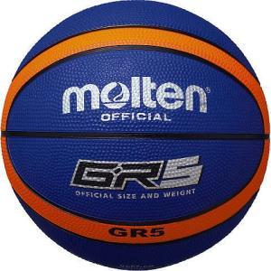 人気 モルテン 【BGR5BO】 バスケットボール5号 GR5 ブルー×オレンジ