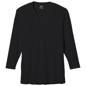 【1点までメール便可】 人気 ミズノ 【C2JA560109】 ブレスサーモエブリVネック長袖シャツ ブラック
