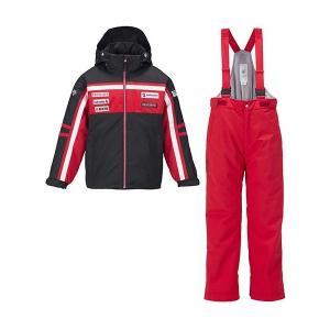 セール 16-17 デサント 【DJR-610JF-BLK】 ジュニアスキースーツ ブラック|bandaisports