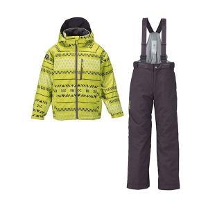 セール 16-17 デサント 【DJR-612JF-LKN】 ジュニアスキースーツ ライムイエローニット|bandaisports