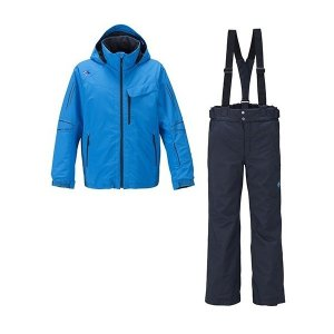 セール 16-17 デサント 【DRA-6090F-TQS】 メンズスキースーツ上下セット ターコイズ|bandaisports