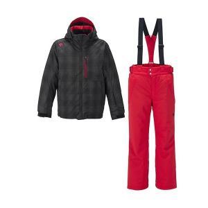 セール 16-17 デサント 【DRA-6091F-BGC】 メンズスキースーツ上下セット ブラックグラデーションチェック|bandaisports