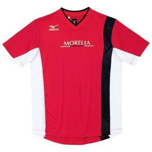 【1点までメール便可】 セール ミズノ 【P2JA408062】 モレリア サッカープラクティスシャツ 半袖 レッド|bandaisports