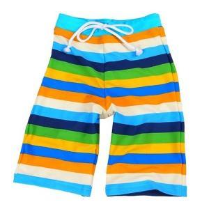 ZAZZY ZAPS ザジーザップス レインボー ロングスイムパンツ ブルー系 6853665 男の子 水着 UV スイミング キッズ ユアーズアーミーワールド 海水パンツ|bandblife