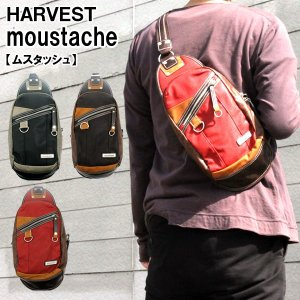 HARVEST(ハーヴェスト) ボディバッグ ワンショルダーバッグ BK/BR/RD MOUSTACHE(ムスタッシュ) VHW-5530|bandblife
