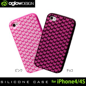 aglow DESIGN iPhone4/4S カバー ハートシリコンケース スマートフォン|bandblife