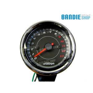 新品 汎用 LED タコメーター 電気式 モンキー ゴリラ ズーマー カスタム アナログ ブラックパネル バイク部品|bandieshop