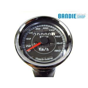 新品 汎用 LED ミニ スピードメーター 機械式 TW200 ブロンコ 等 カスタム アナログ ブラックパネル 180km|bandieshop