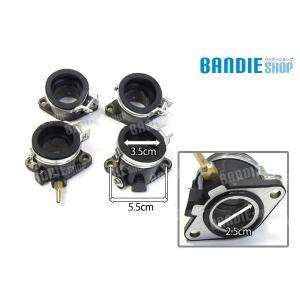 新品CBX400F 強化タイプ インテークマニホールド 4個セット/CBR インマニ CBX400 CBR400F CBX550F Oリング|bandieshop