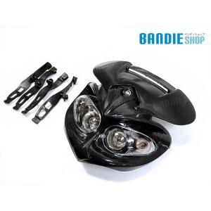 CRM250AR XLR250 アチェルビス 風 ライトカウル ブラック XR250 ダイヤモンド ヘッドライト カウル 新品 bandieshop