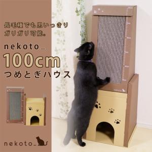 nekoto_100cmつめとぎハウス 猫 ネコ 段ボール ダンボール おしゃれ つめとぎ ハウス bando