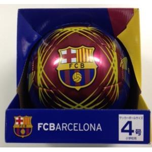 FCBARCELONA FCバルセロナ サッカーボール 4号 ブルー bandofballers