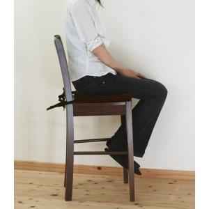 座面60cm 木製 カウンターチェア 業務用 で 大人気 レザー シートクッション 付/408 カプチーノ( こげ茶色 ) 店舗用 椅子|banjo|04