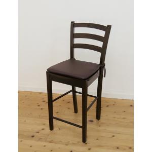 座面60cm 木製 カウンターチェア 業務用 で 大人気 レザー シートクッション 付/408 カプチーノ( こげ茶色 ) 店舗用 椅子|banjo|06