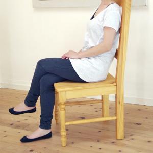 座面高42cm 木製椅子 カントリー調 ダイニングチェア 無垢 木製 椅子 GKT02SS|banjo