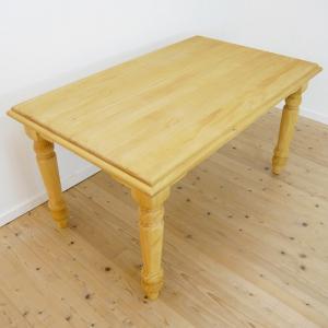 [カントリーパインダイニングテーブル/140cm幅食卓BA02(単品)]オイル仕上げカントリーパイン食卓テーブル/木製テーブル|banjo