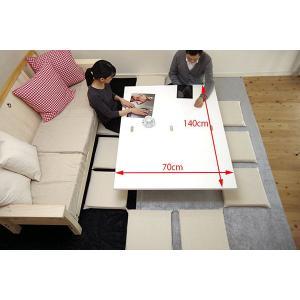 [イタリア製昇降伸長式リフティングテーブルEsprit/ホワイト色/BK]高さ37〜82cm無段階調節/白い伸長式リフティングテーブル/天板が2倍に伸張伸縮テーブル|banjo|04
