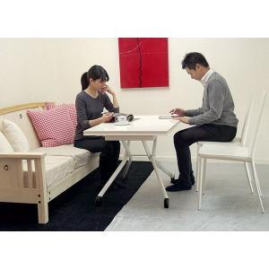 [イタリア製昇降伸長式リフティングテーブルEsprit/ホワイト色/BK]高さ37〜82cm無段階調節/白い伸長式リフティングテーブル/天板が2倍に伸張伸縮テーブル|banjo|05