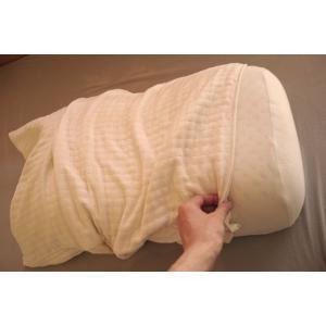オーガニックコットン 四層枕カバー/綿素材/アレルギー対策/安心製法/オーガニック寝具