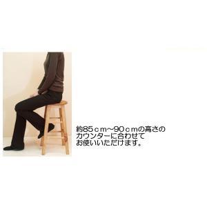 座面60cm 無垢木製 スツール カントリーパインスツール Mサイズ カントリーカウンターチェア 重さ約2.5kg カウンター高さ85〜90cmに合う椅子|banjo|03