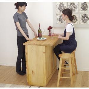 座面60cm 無垢木製 スツール カントリーパインスツール Mサイズ カントリーカウンターチェア 重さ約2.5kg カウンター高さ85〜90cmに合う椅子|banjo|04