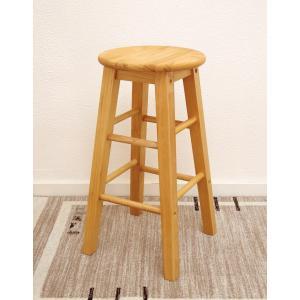 座面60cm 無垢木製 スツール カントリーパインスツール Mサイズ カントリーカウンターチェア 重さ約2.5kg カウンター高さ85〜90cmに合う椅子|banjo|05