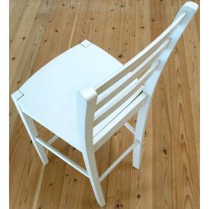 白い カウンターチェア 座面高60cm 木製 カウンター天板高85〜90cmにあう 木製カウンターチェア408 ホワイト(白色)|banjo|04