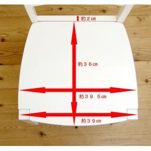 白い カウンターチェア 座面高60cm 木製 カウンター天板高85〜90cmにあう 木製カウンターチェア408 ホワイト(白色)|banjo|06